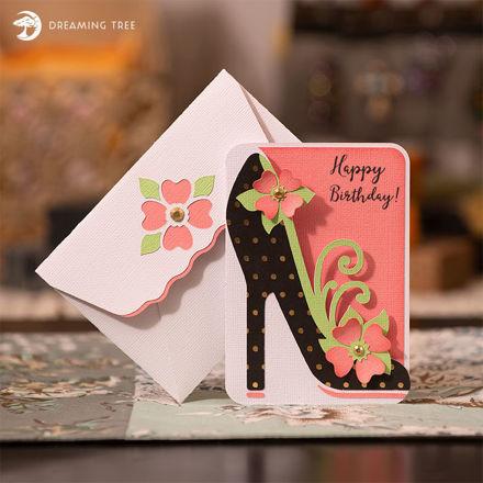 High Heel Greeting Card (Free SVG)