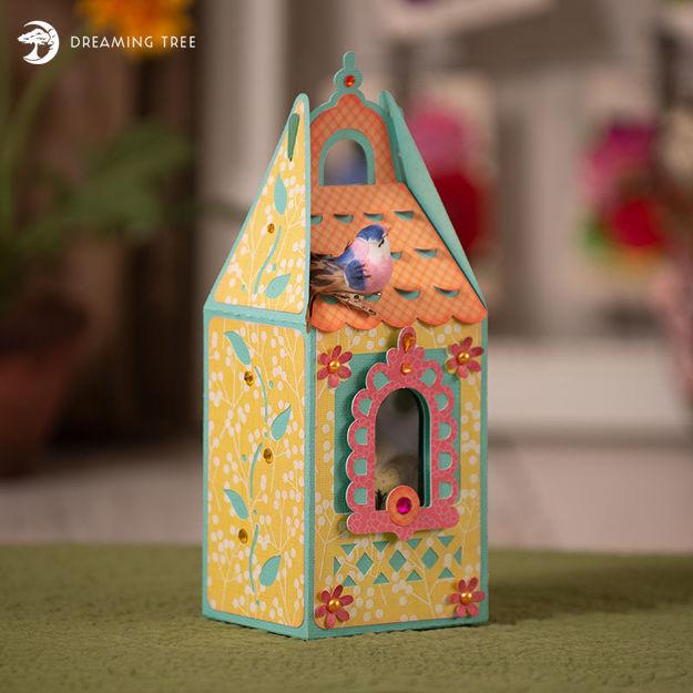 Gable Birdhouse Box SVG