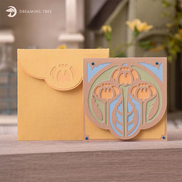 Wildflower Card SVG