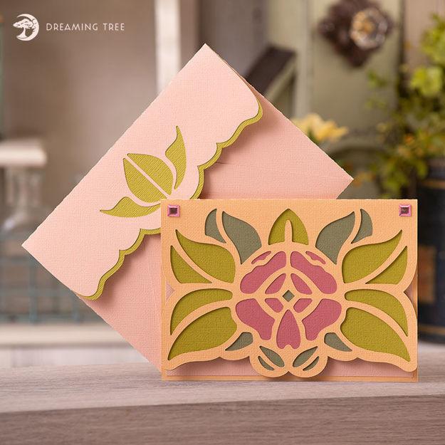 Rose Card SVG