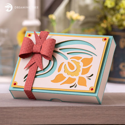 Picture of Nouveau Greeting Card Box SVG