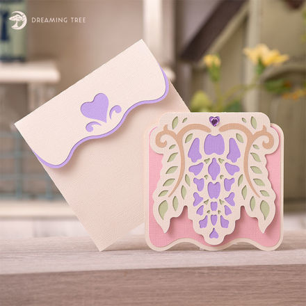 Picture of Wisteria Card SVG