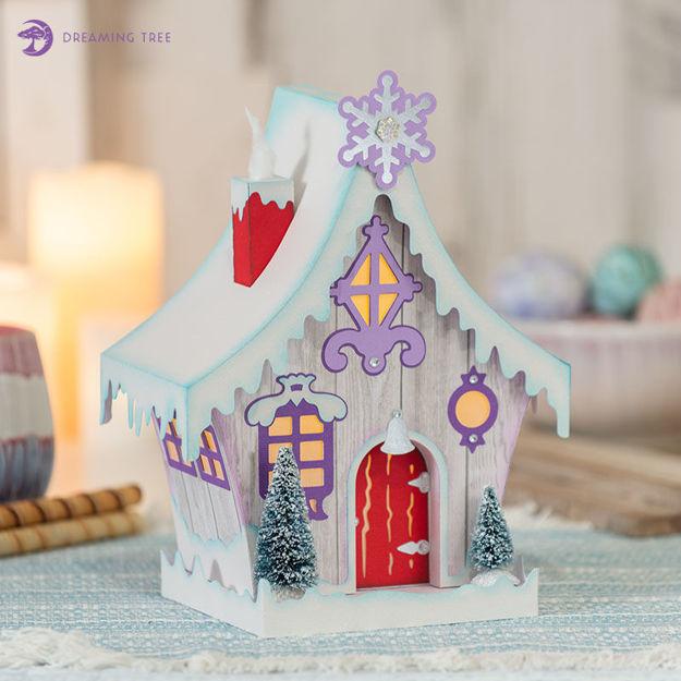 Winter Cottage Luminary