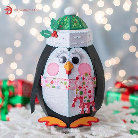 Christmas Googly Penguin Gift Box