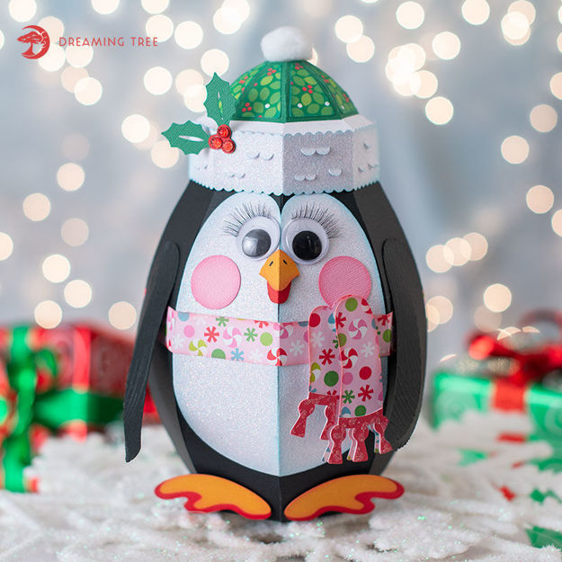 Picture of Googly Penguin Gift Box SVG
