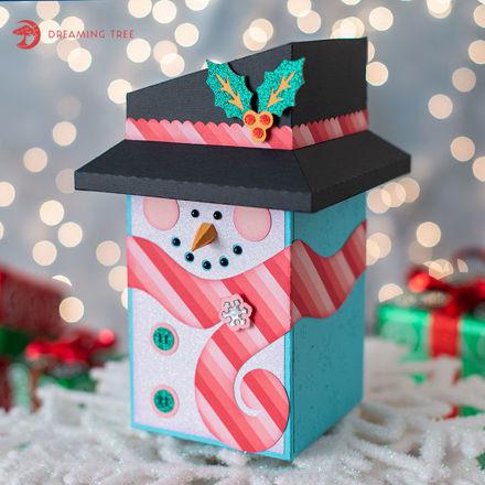 Snowman Gift Box SVG