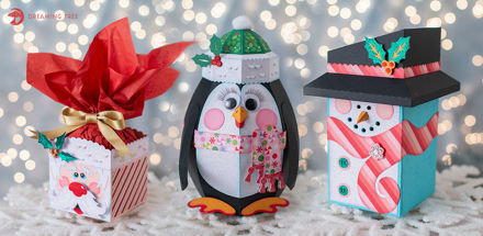 Happy Holiday Gift Boxes SVG Bundle