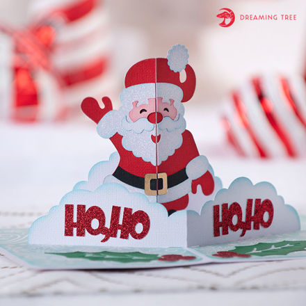 Picture of Holly Jolly Santa Card SVG