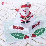 Holly Jolly Santa Claus Christmas Pop Up Card