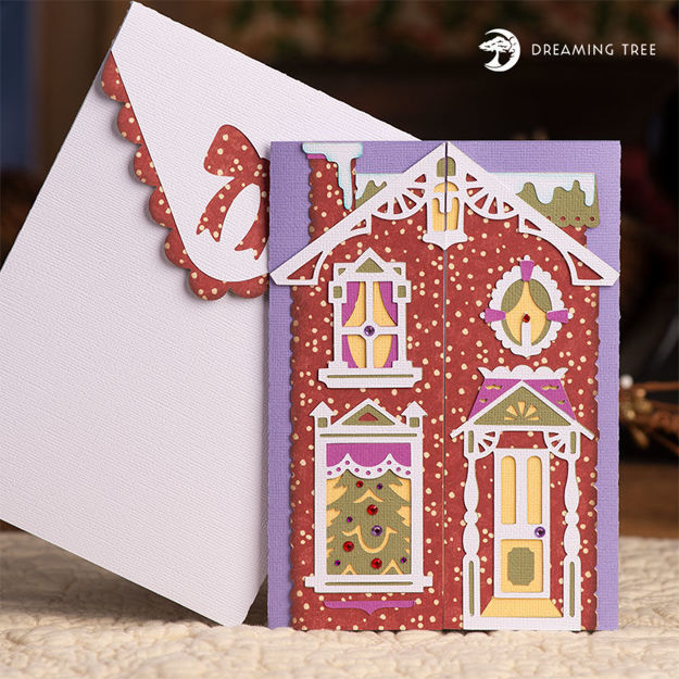 Picture of Victorian House Gatefold Card SVG