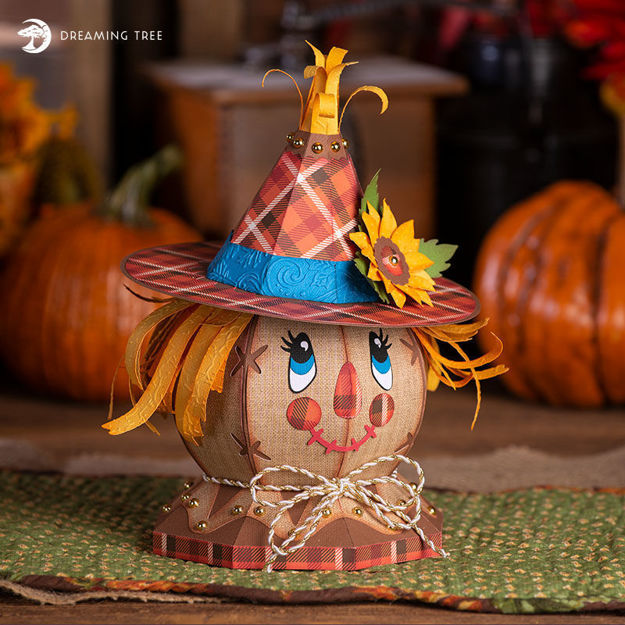 Picture of Scarecrow Gift Treat Box SVG