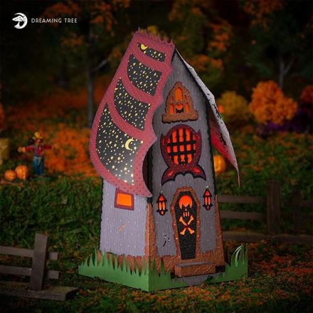 Halloween Haunted House Luminary