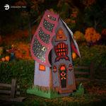 Halloween Hollow Haunted House Luminary