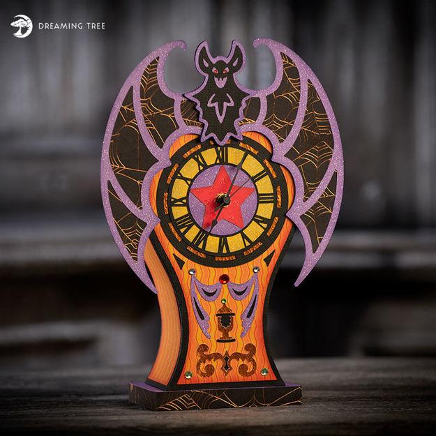 Boo-tiful Bat Clock SVG