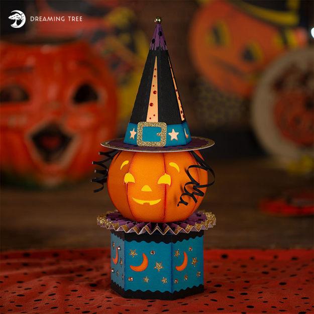 Picture of Pumpkin Luminary Treat Box SVG