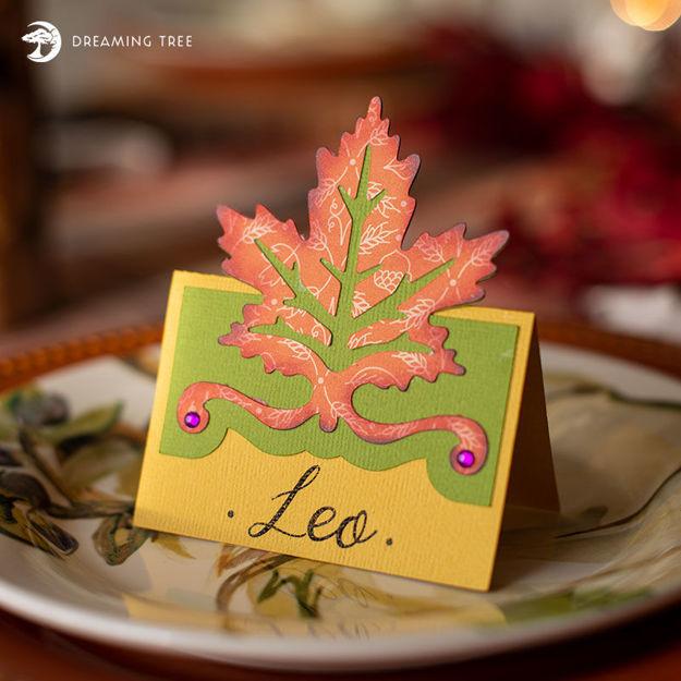 Autumn Leaf Place Card (Free SVG)