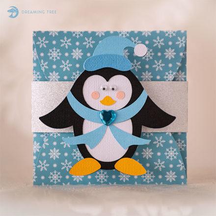 Penguin Gift Card Holder (Free SVG)