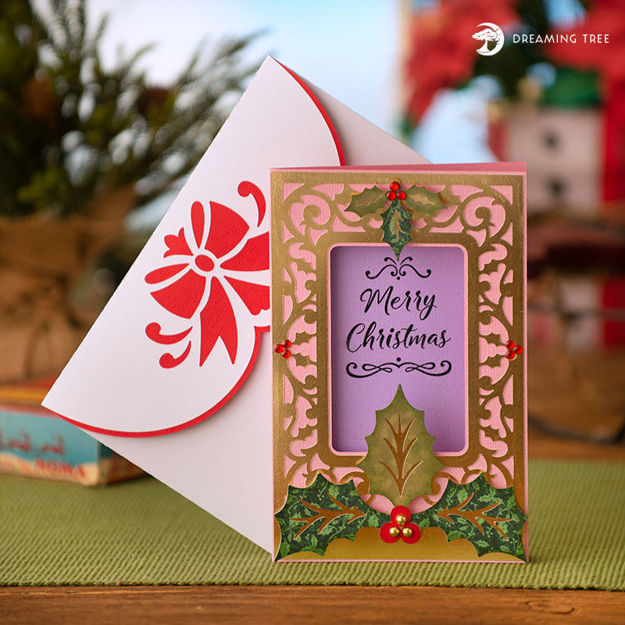 Picture of Holly Christmas Card SVG