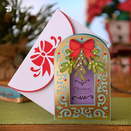 Mistletoe Christmas Card SVG