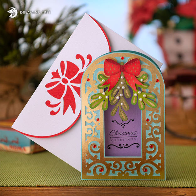 Picture of Mistletoe Christmas Card SVG