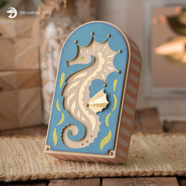 Picture of Seahorse Box SVG