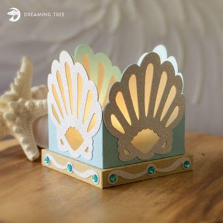 Scallop Shells Tea Light Holder (Free SVG)