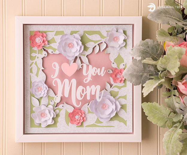 Picture of Floral Heart Paper Sculpture SVG