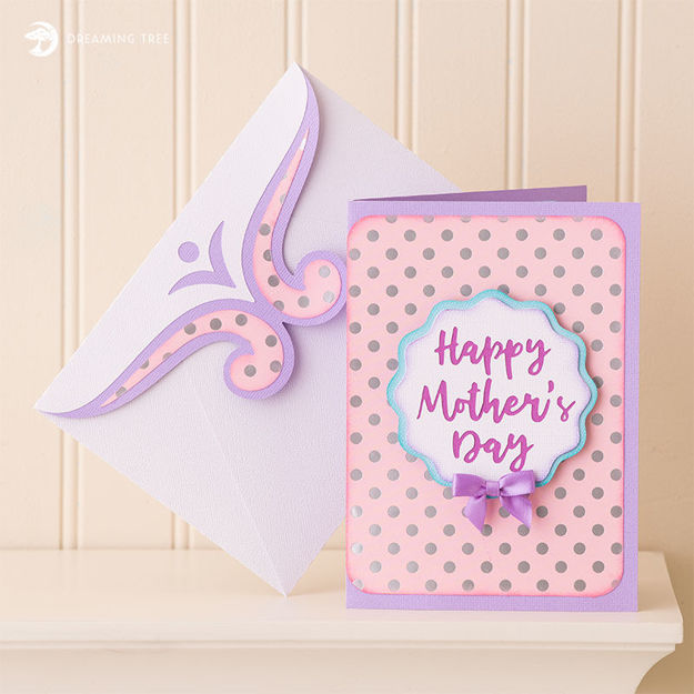 Picture of Mother's Day Bouquet Pop Up Card SVG