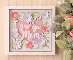I Love You Mom Mum Heart Paper Sculpture