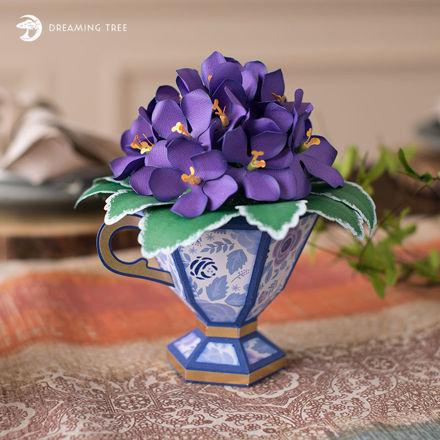 Picture of Teacup African Violets SVG