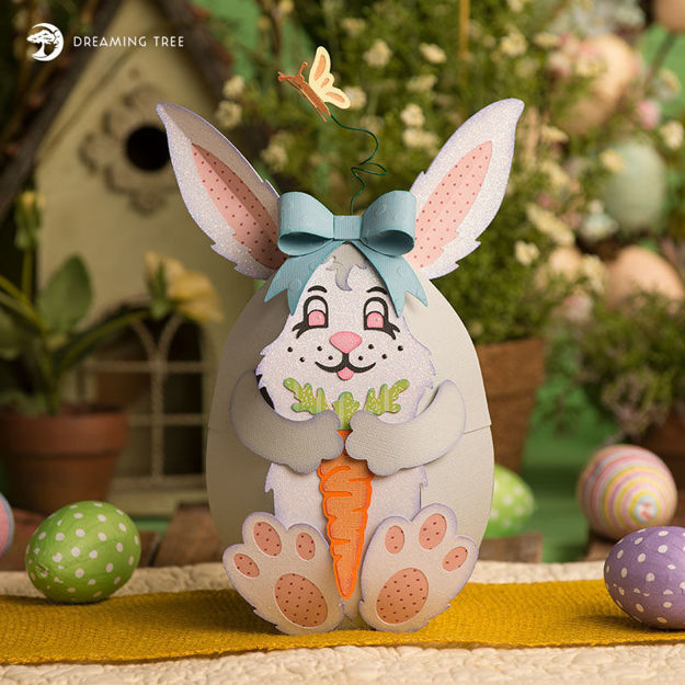 Picture of Easter Bunny Egg Box SVG