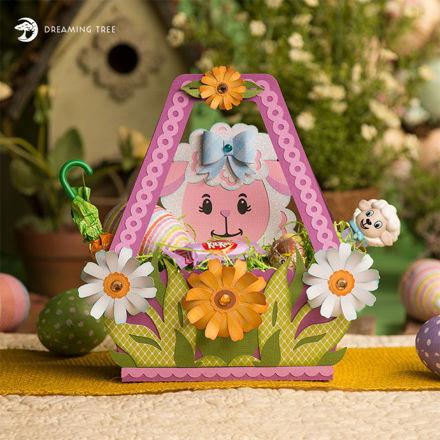 Little Lamb Easter Basket SVG