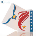 Picture of American Eagle Pop Up Card SVG