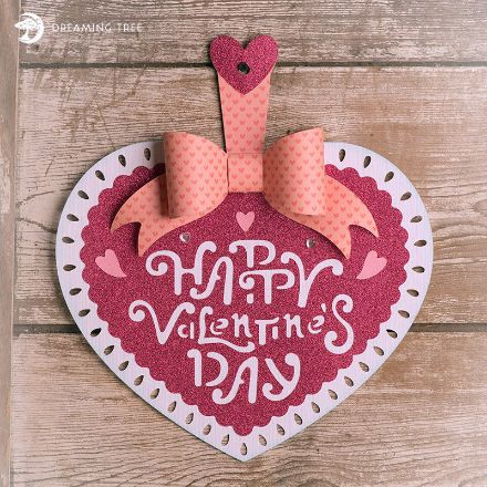 Happy Valentine's Day Heart Hanger Decor Free
