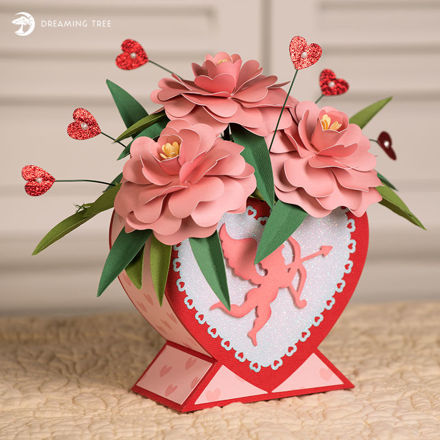 Picture of Sweetheart Camellia Bouquet SVG