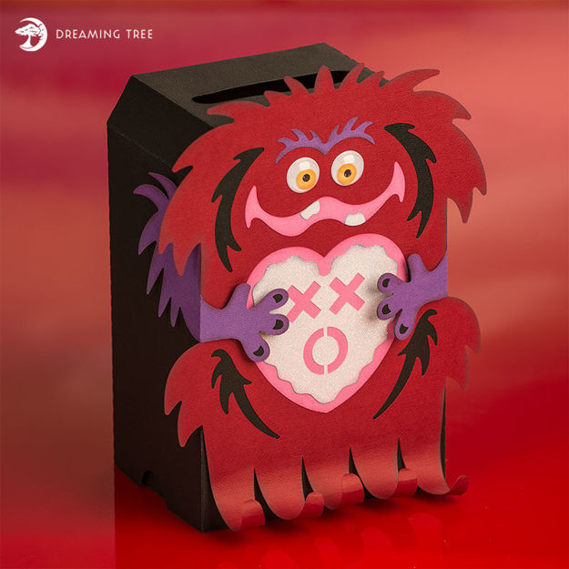 Picture of Monster Valentine's Mail Box SVG