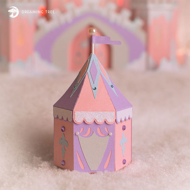 Picture of Knights Tent Favor Box SVG