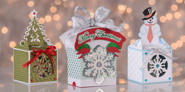 Picture of Holiday Gift Boxes SVG Bundle