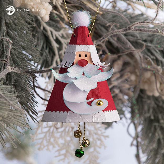 Santa Claus Jingle Bell Ornament