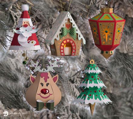 Merry Christmas Ornaments SVG Bundle