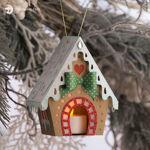 Gingerbread House Luminary Christmas Ornament