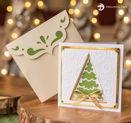 Picture of Evergreen Greeting Card SVG