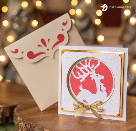 Picture of Prancer Greeting Card SVG