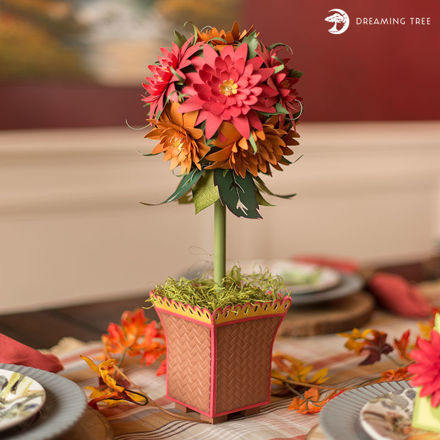 Thanksgiving Home Decor Topiary