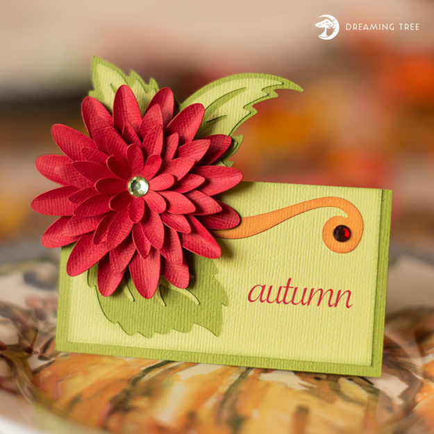Picture of Dahlia Place Card SVG