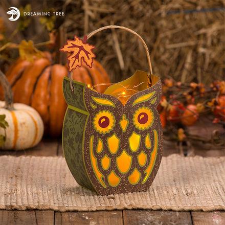 Hootie Owl Lantern SVG
