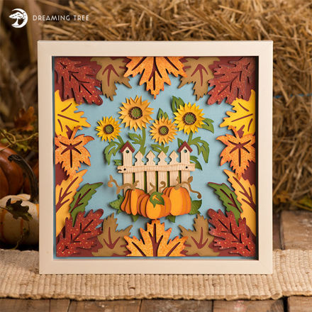 Picture of Falling Leaves Paper Sculpture SVG