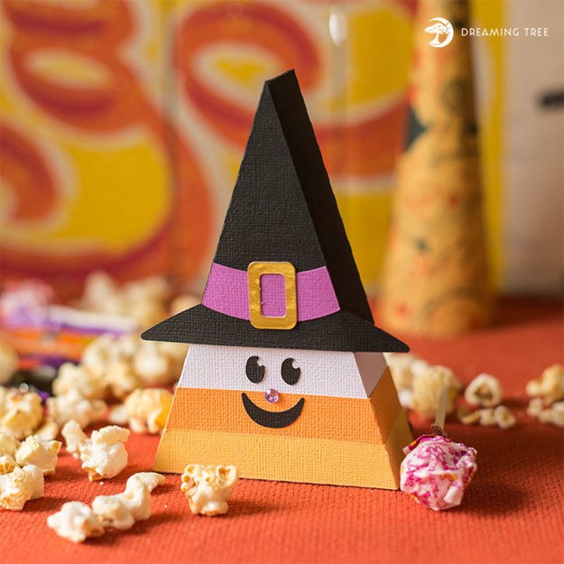 Candy Corn Witch (Free SVG)