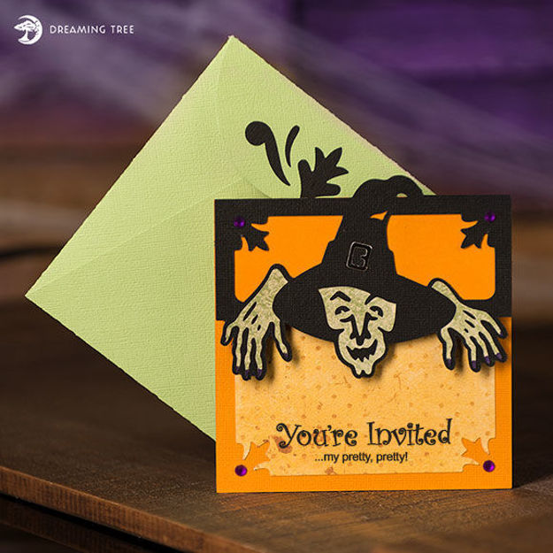 Halloween Witch Party Invitation