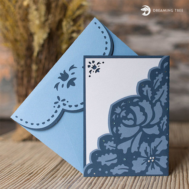 Picture of Midnight Blue Floral Card SVG